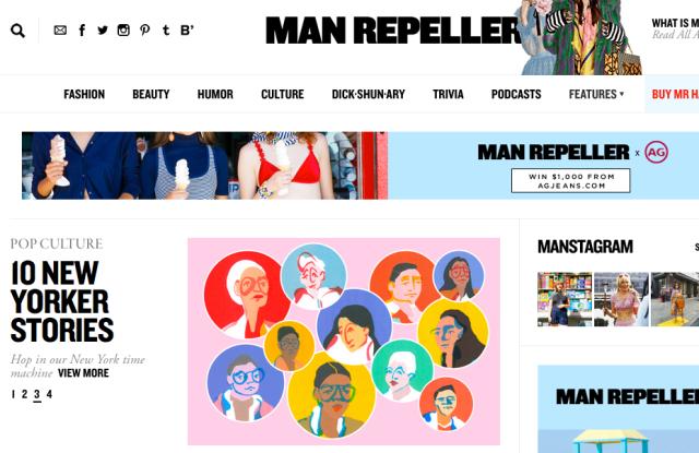 Screenshot of Manrepeller.com
