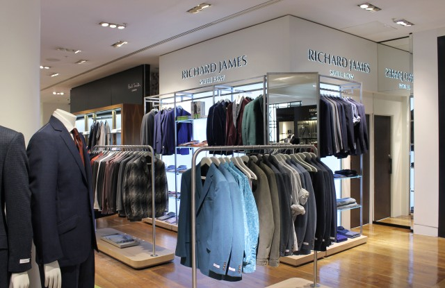 Richard James shop-in-shop Selfridges