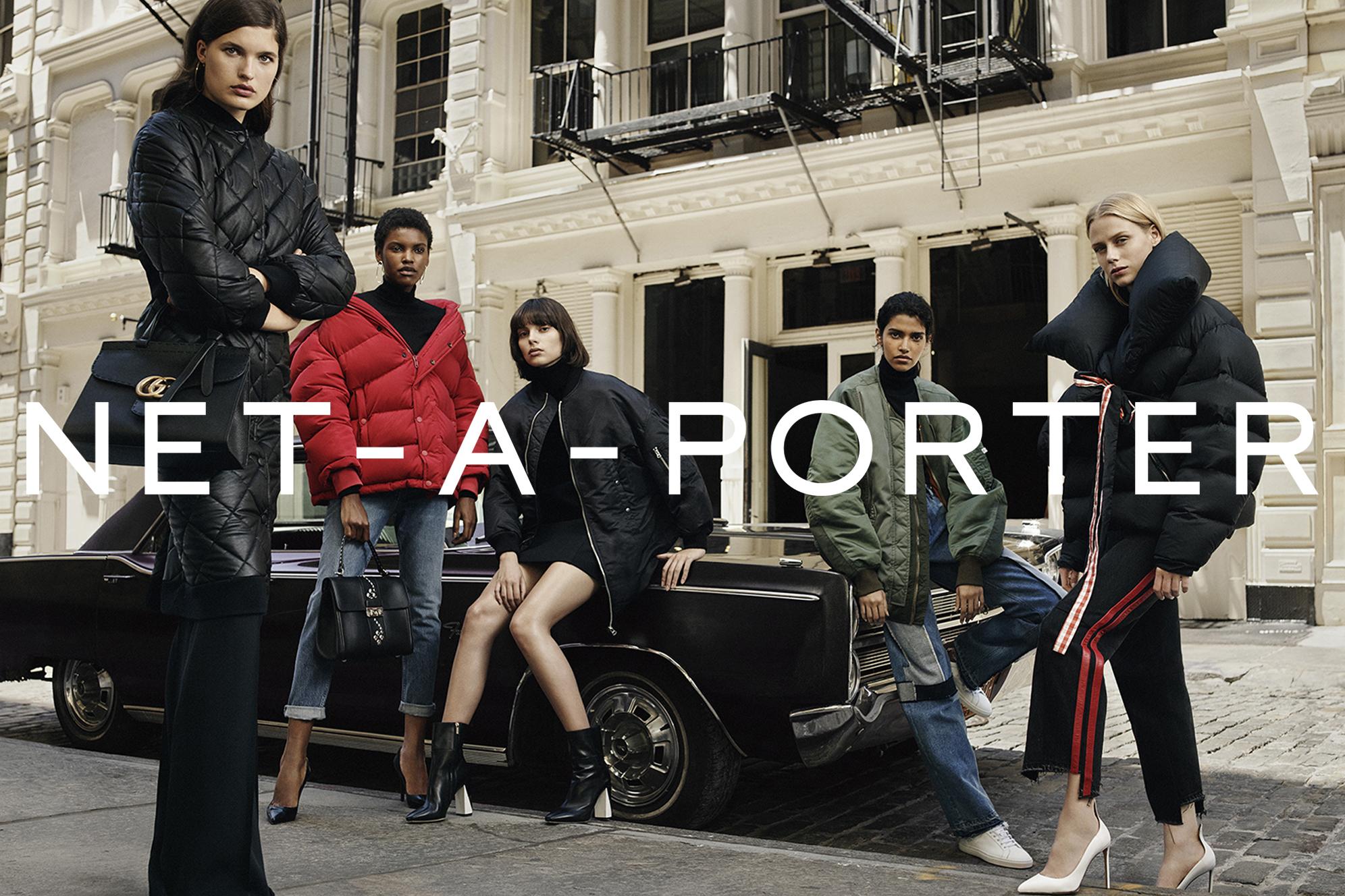 Net-a-porter's sporty jacket fall campaign.