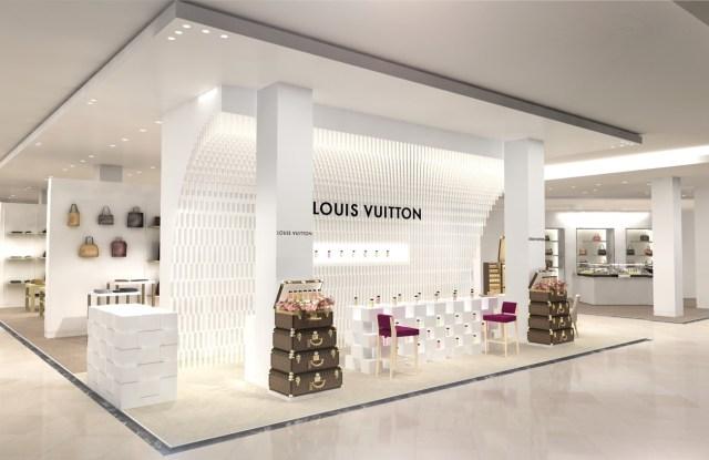 The Louis Vuitton perfume pop-up at Le Bon Marche.