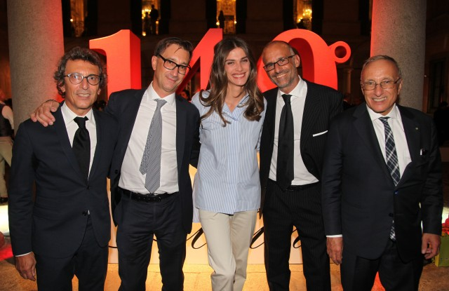 Elisa Sednaoui with the Albini Family