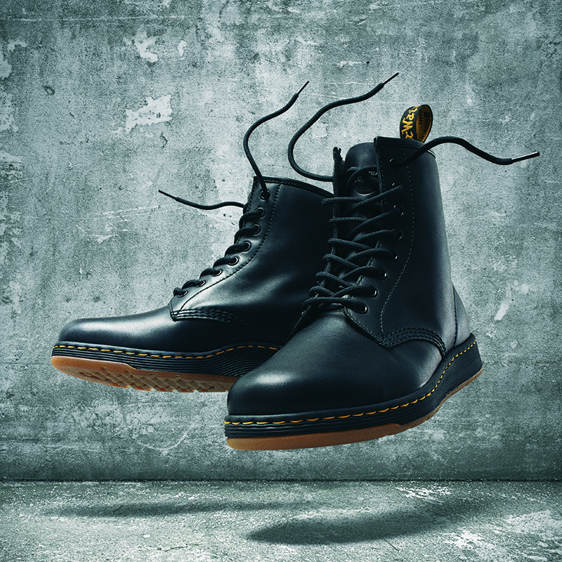 The DM's Lite line includes Newton, a take on the classic Dr. Martens 1460 boot.