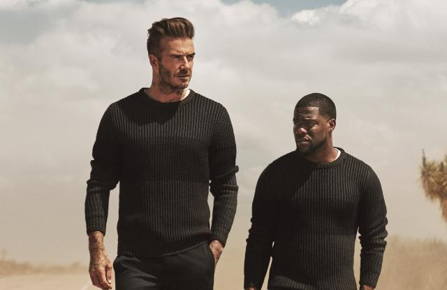 David Beckham and Kevin Hart in the H&M campaign