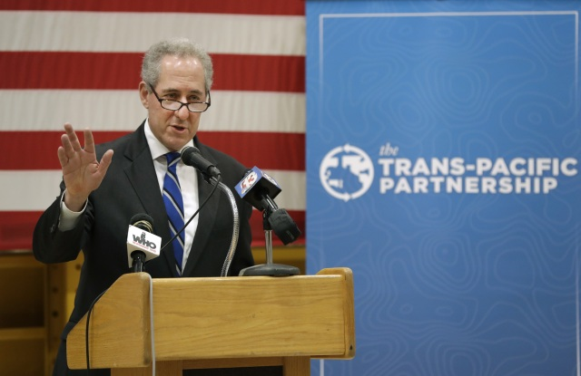 Michael Froman at the governors meeting in Des Moines.
