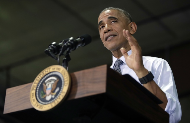 Barack Obama speaks to members of the military, Fort Lee, Virginia, USA  - 28 Sep 2016