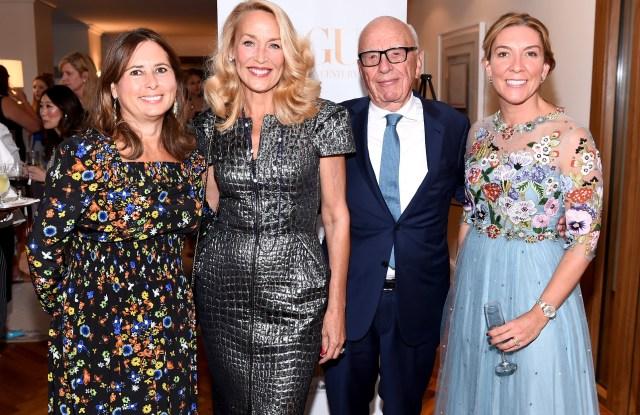 Alexandra Shulman, Jerry Hall, Rupert Murdoch and Antonia Romeo.