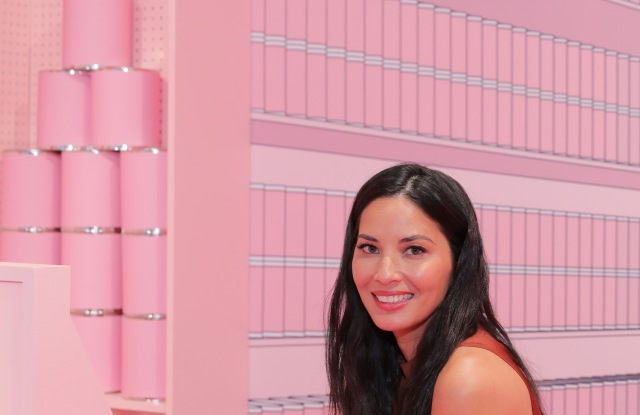 Olivia Munn at a pop-up for Target's upcoming TriBeCa store.