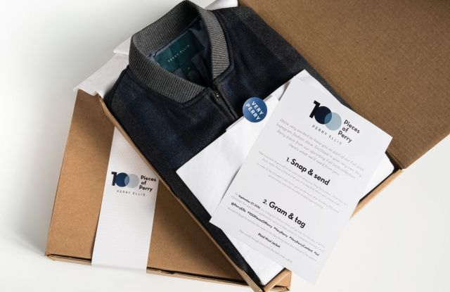 The box that will be sent out to participants in the Perry Ellis campaign.