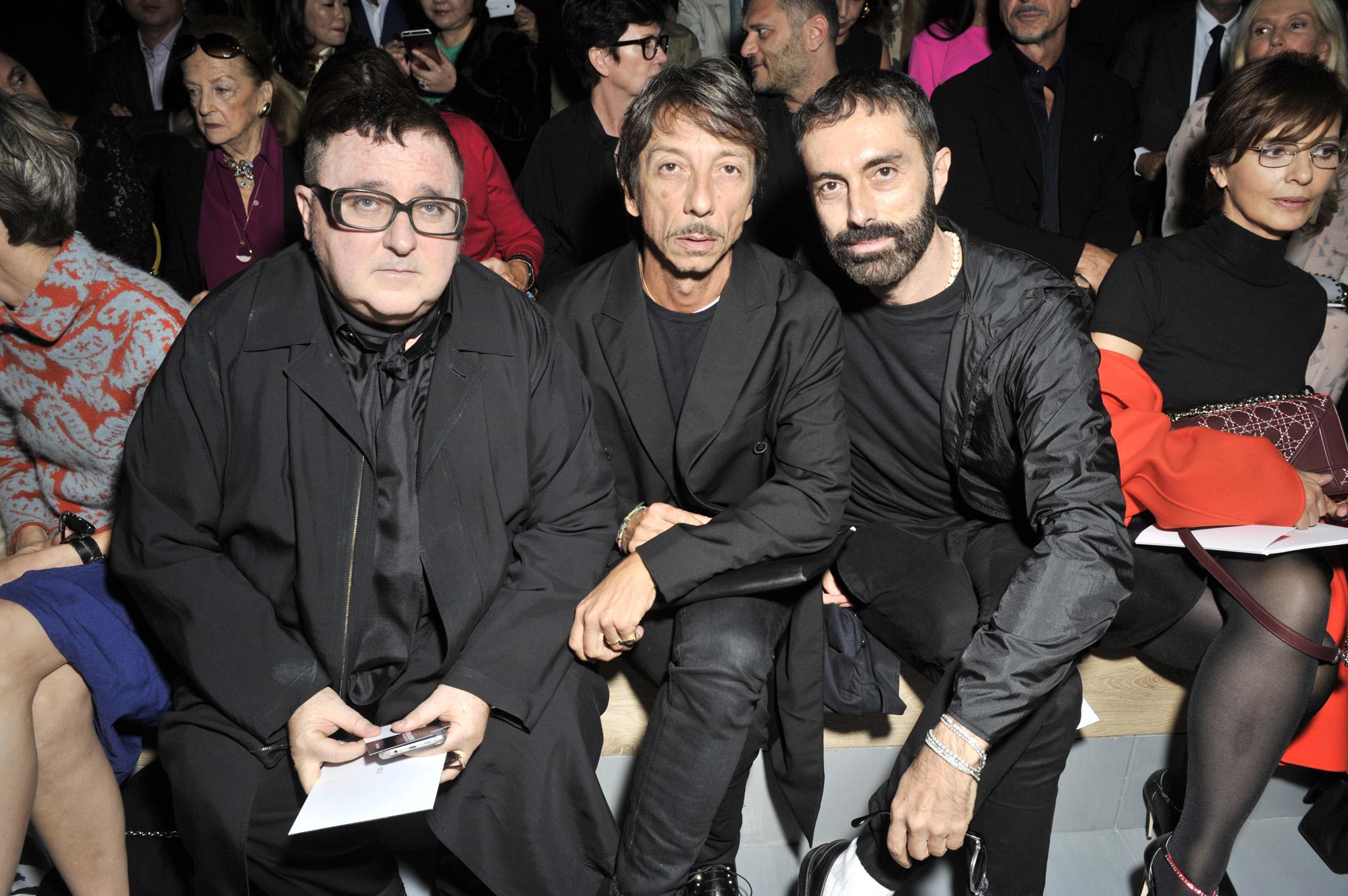Alber Elbaz, Pierpaolo Piccioli and Giambattista Valli