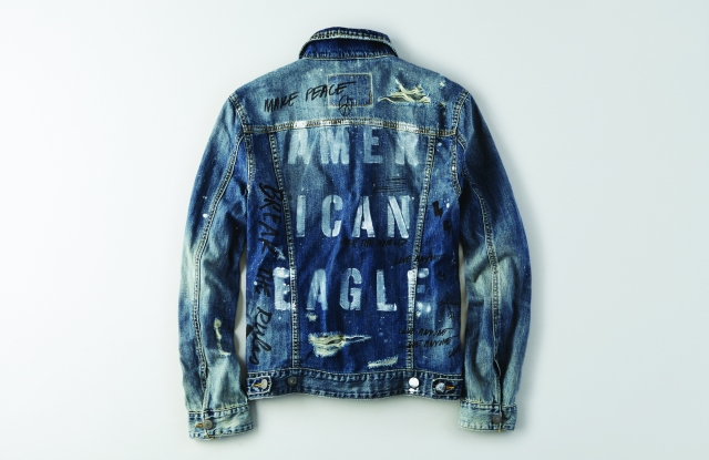 American Eagle Outfitters' I Can unisex denim jacket.
