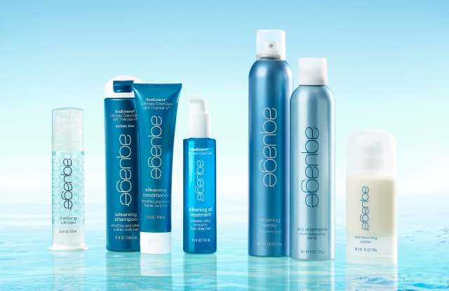 An assortment of Aquage products.