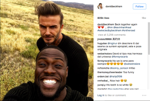 An image from David Beckham's Instagram account