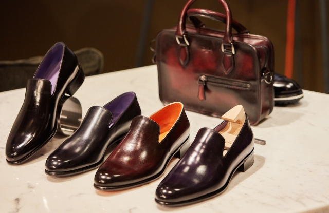 A view of the Berluti pop up store at Le Bon Marché