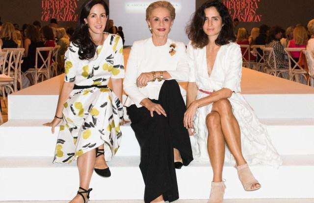 Carolina Herrera, center, with daughters Patricia Herrera Lansing and Carolina Herrera Baez.