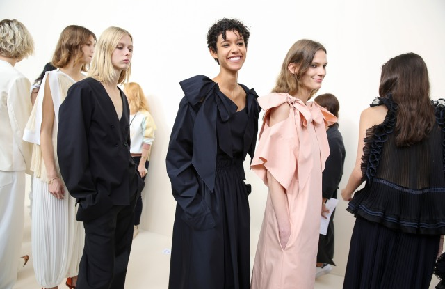 Backstage at Chloé RTW Spring 2017