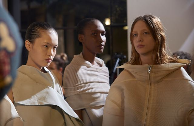 Backstage at Rick Owens RTW Spring 2017