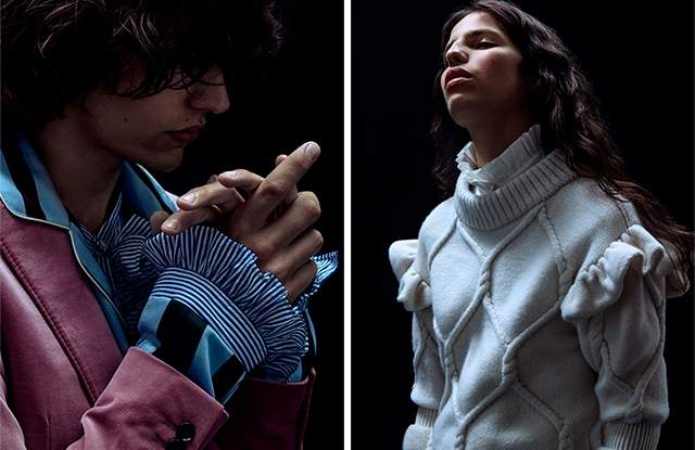 Looks from the Burberry x Barneys New York collection.