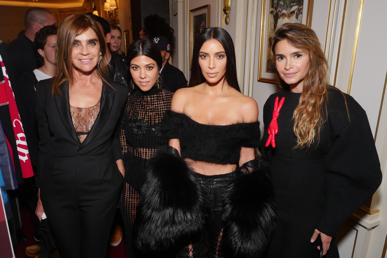 Carine Roitfeld, Kourtney Kardashian, Kim Kardashian, Miroslava Duma