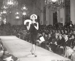 China Machado on the runway at the Pitti Palace.