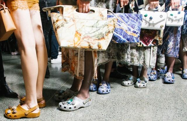 Handbags and Crocs by Christopher Kane.