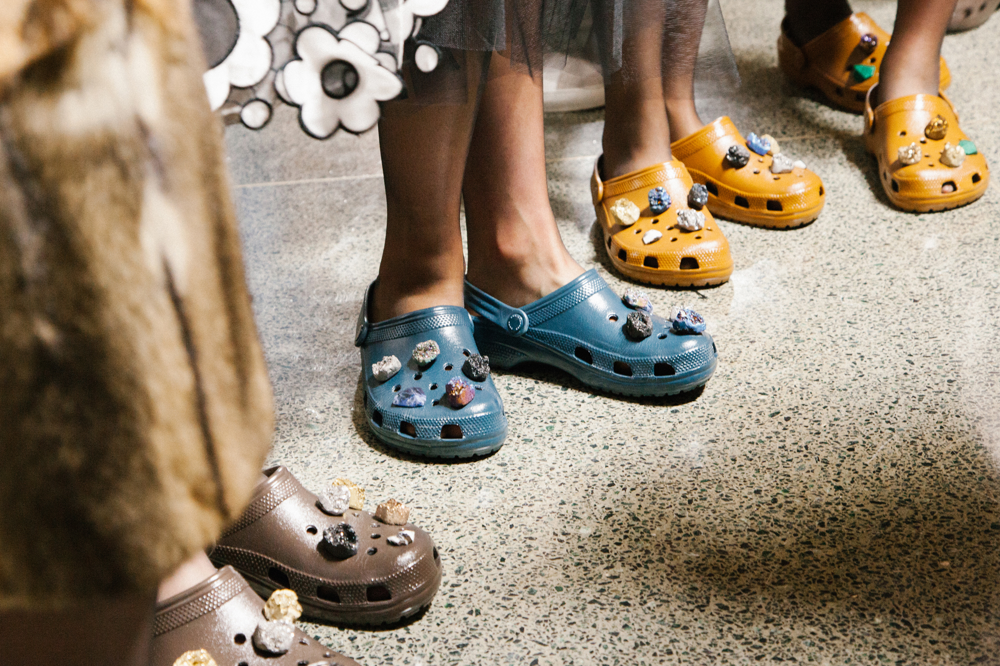 Looks from the Christopher Kane x Crocs collection.