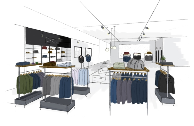 A rendering of the shop at Bloomingdale's