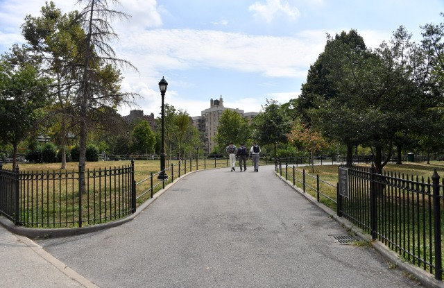 Joyce Kilmer Park in the Bronx is a beneficiary of Uniqlo's largess.