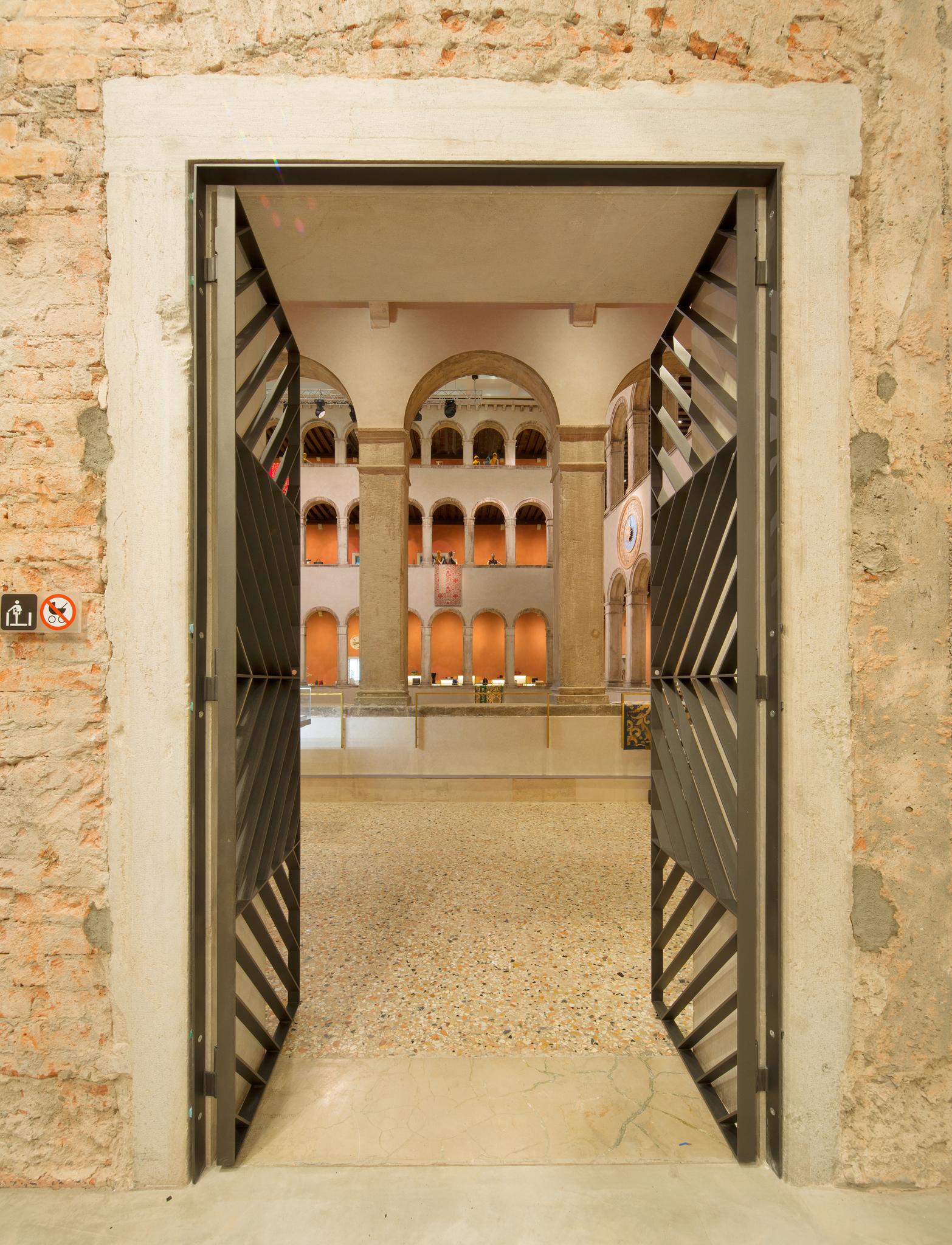 Inside the DFS  T Galleria Fondaco dei Tedeschi store in Venice.