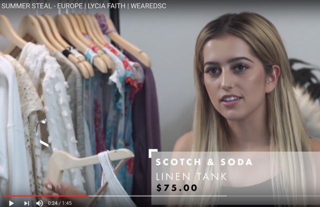 YouTube vlogger Lycia Faith on segment for Digital Shopping Channel