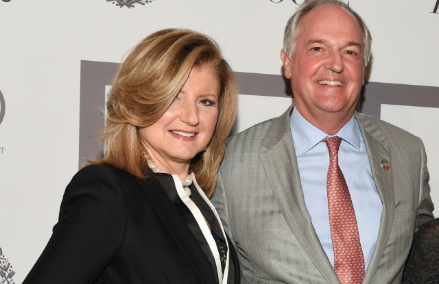 Paul Polman at F4D's event with Ariana Huffington, Jane Wurwand and Evie Evangelou.
