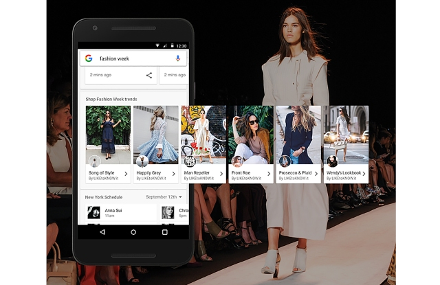 Google partnered with RewardStyle on its fashion week mobile search product.