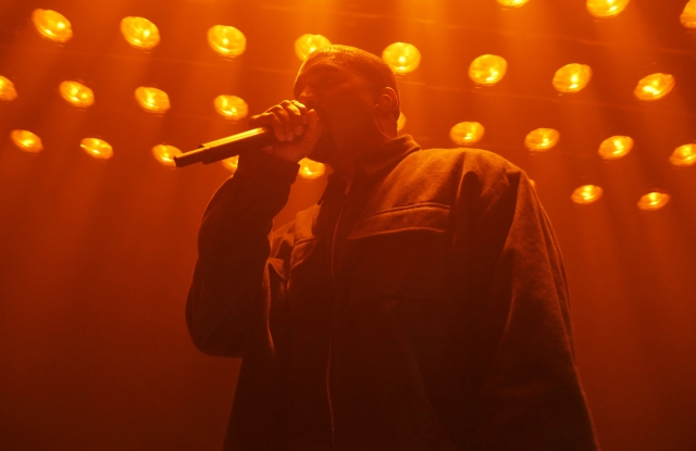 Kanye West performs at Harper's Bazaar's Icons Party