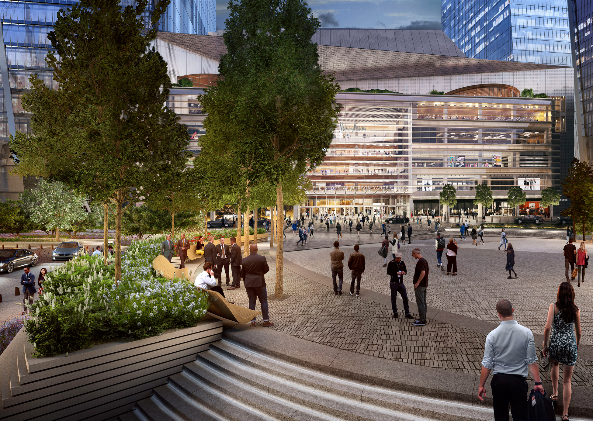 A rendering of The Shops & Restaurants at Hudson Yards.