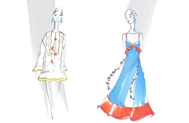 Sketches from the Sachin & Babi x W Goa collection.