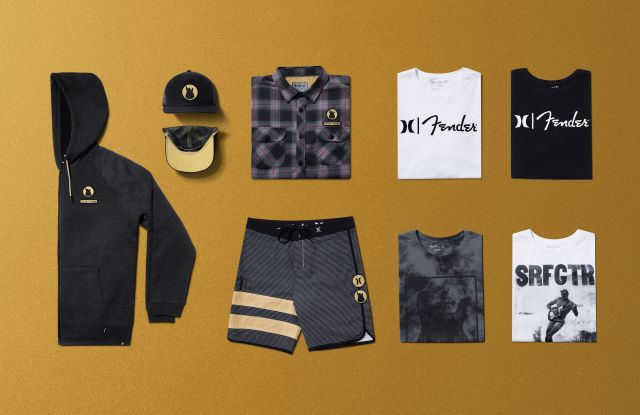 Hurley x Fender clothing collaboration