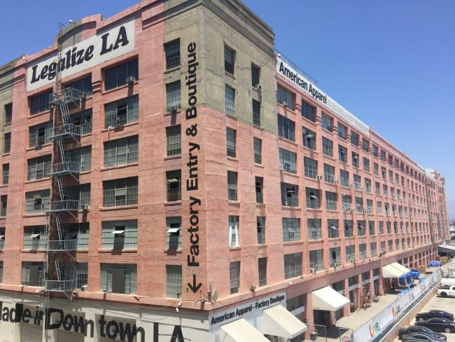 American Apparel's factory and headquarters in downtown Los Angeles.