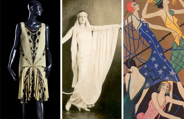 Images from the Jazz Age exhibit at the Fashion & Textile Museum.