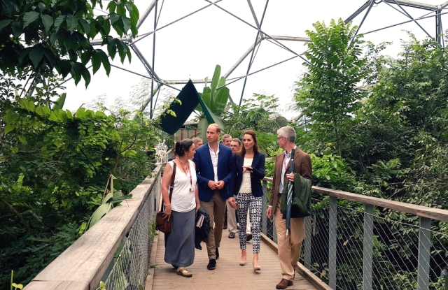 Duchess Kate Middleton at the Eden Project in Cornwall