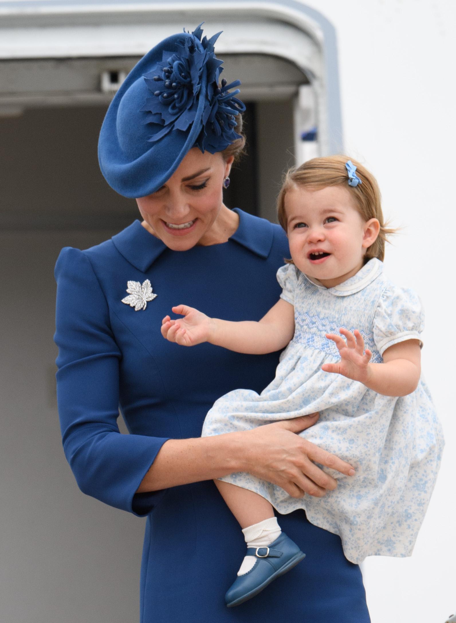 Kate Middleton Princess Charlotte Canada 2016