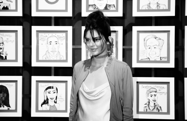 Kendall Jenner at Target and IMG's Red's lounge.