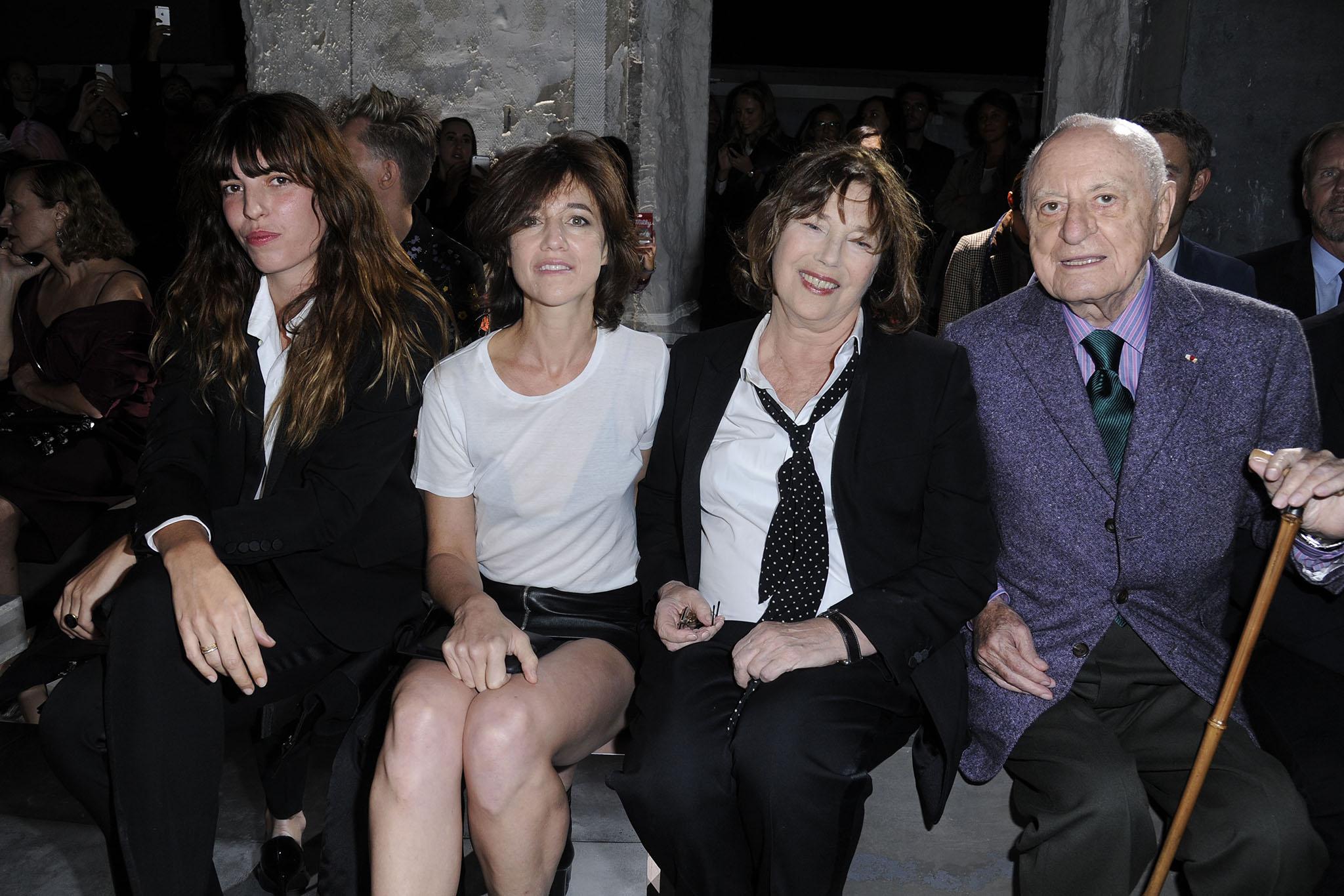 Lou Doillon, Charlotte Gainsbourg, Jane Birkin and Pierre Bergé