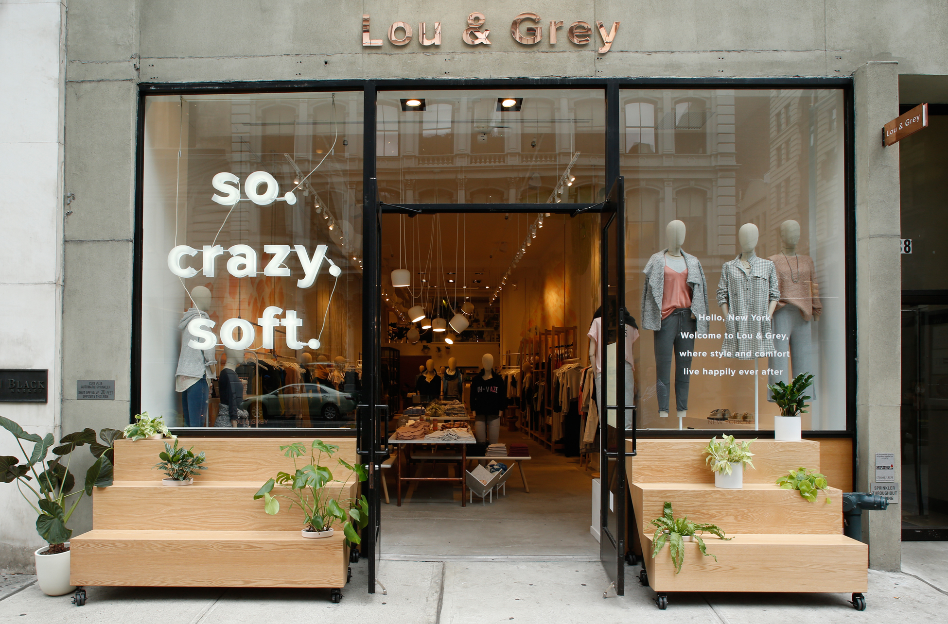 Inside Lou & Grey's first New York City store.