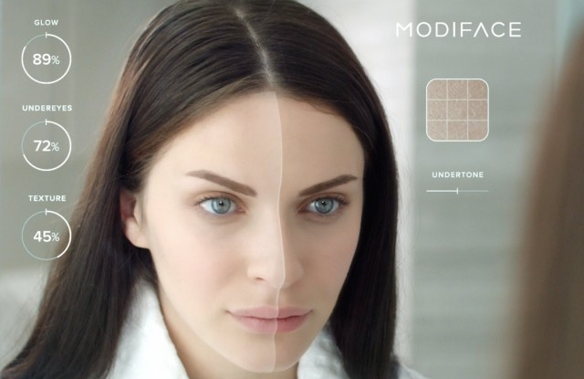 Ttechnology from ModiFace virtually shows before and after.