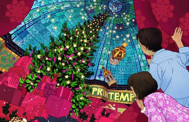 The Printemps 2016 holiday theme illustrated by Peter Diamond