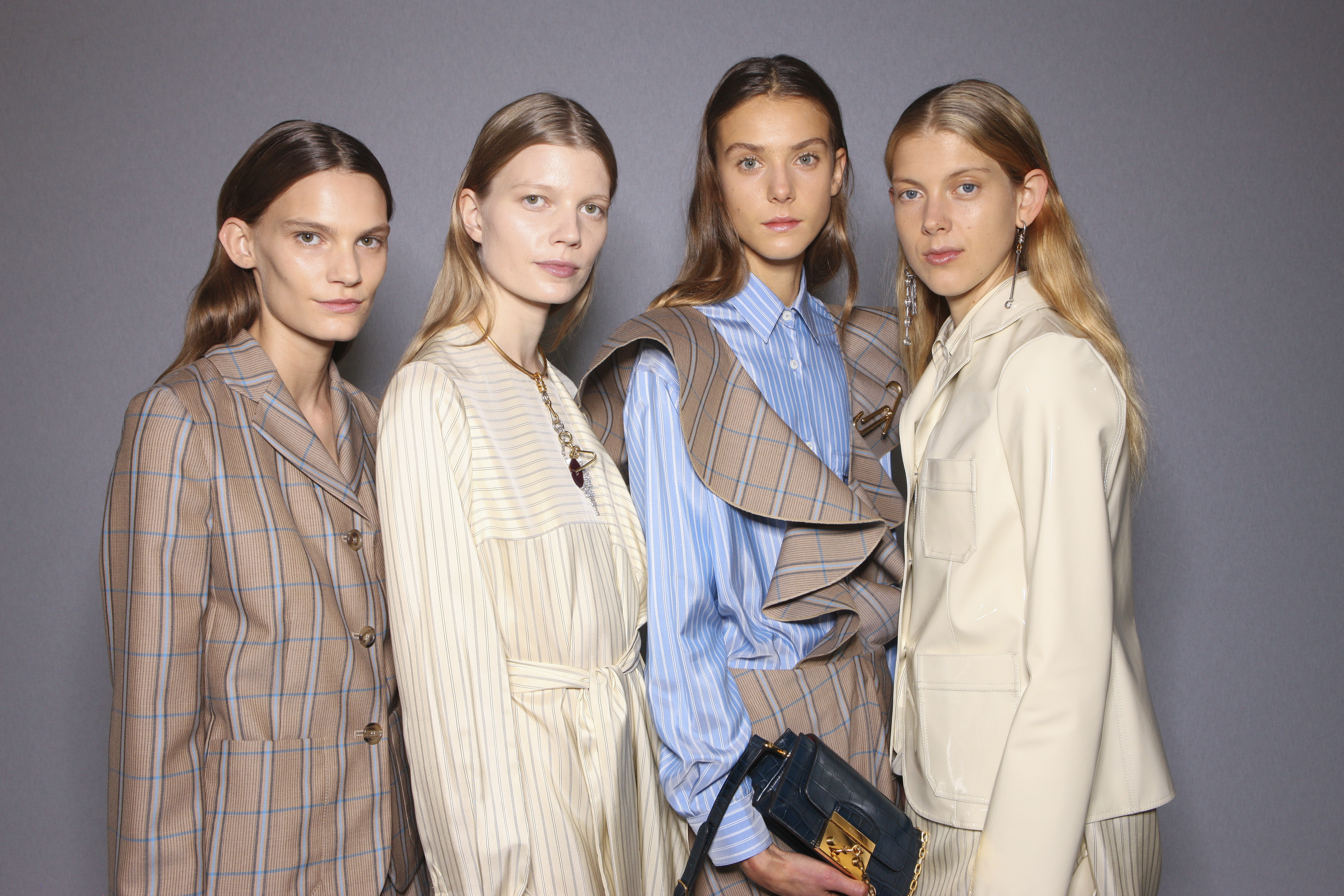 Backstage at Mulberry RTW Spring 2017