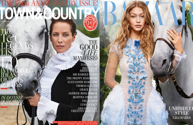 October covers for Town & Country and Harper's Bazaar.
