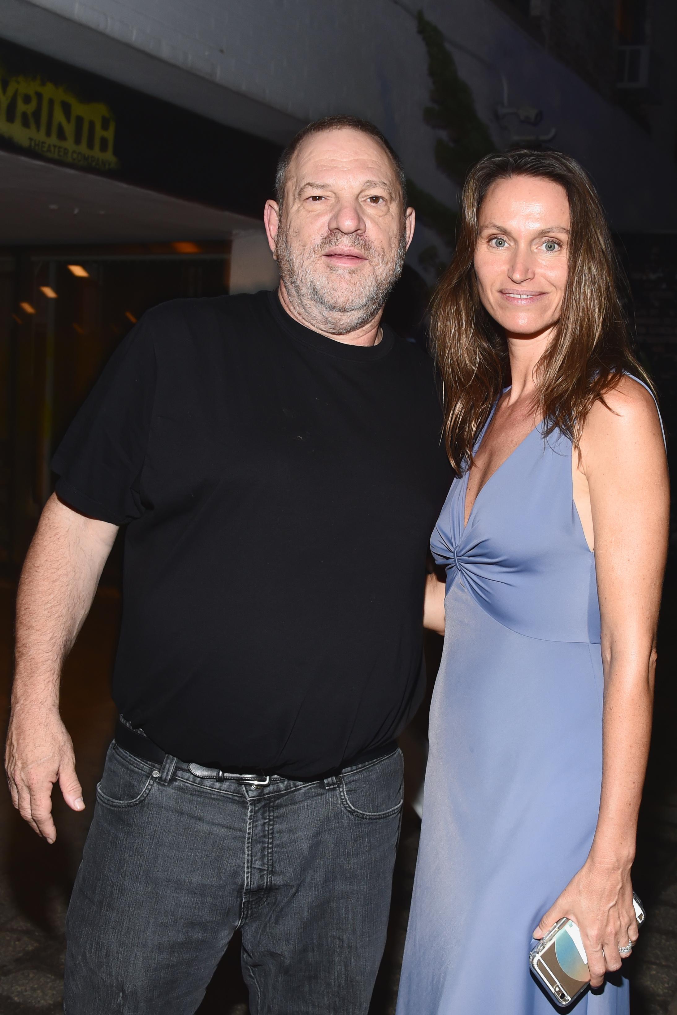 Harvey Weinstein and Anne de Carbuccia