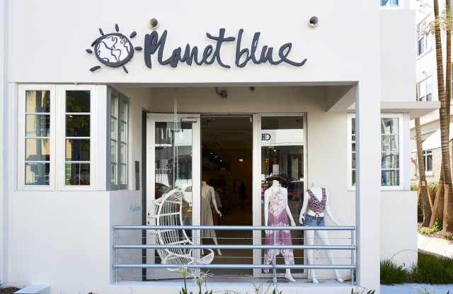 The exterior of the Planet Blue store in South Beach, the retailer's first to open in Florida.