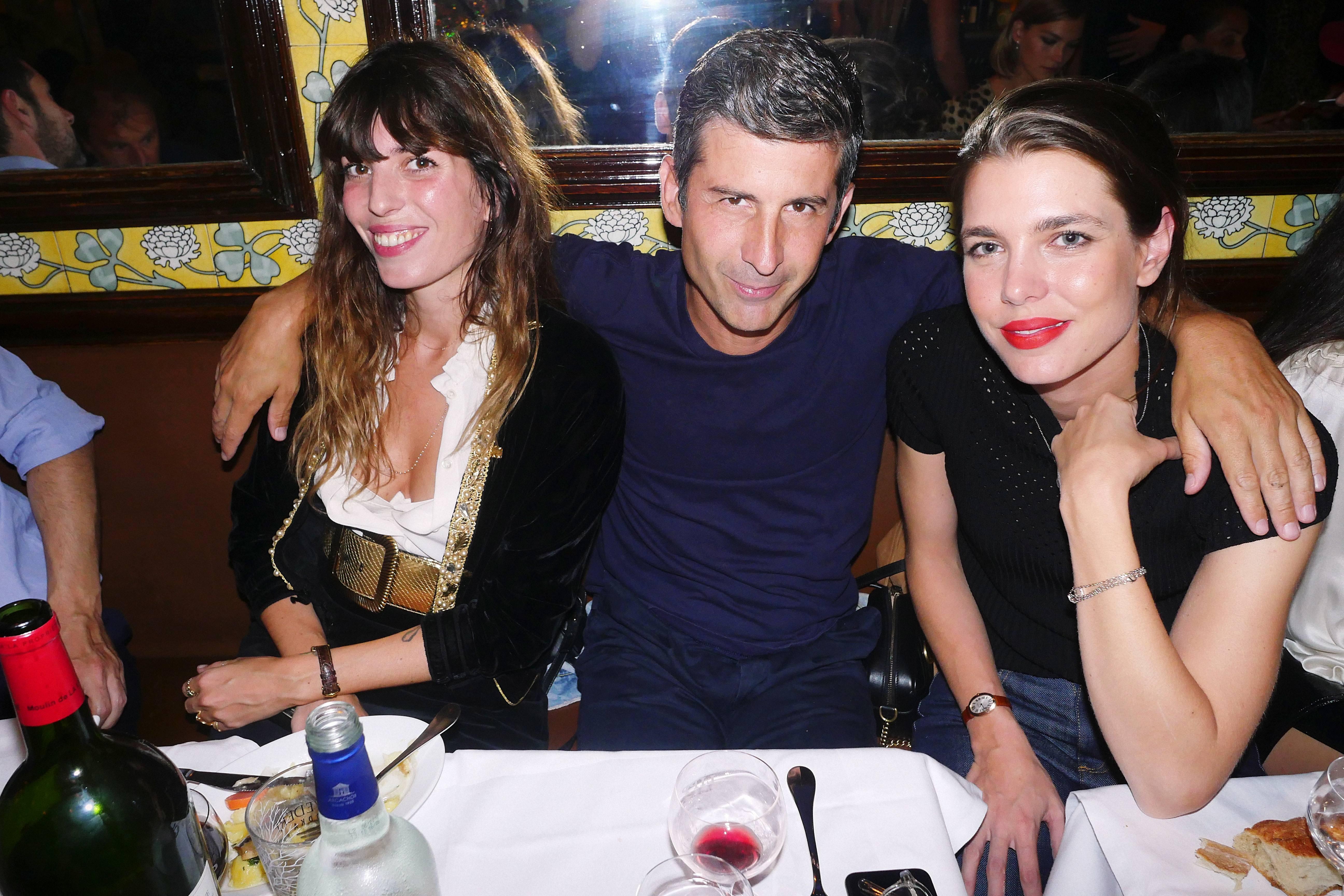 Lou Doillon, André Saraiva, Charlotte Casiraghi