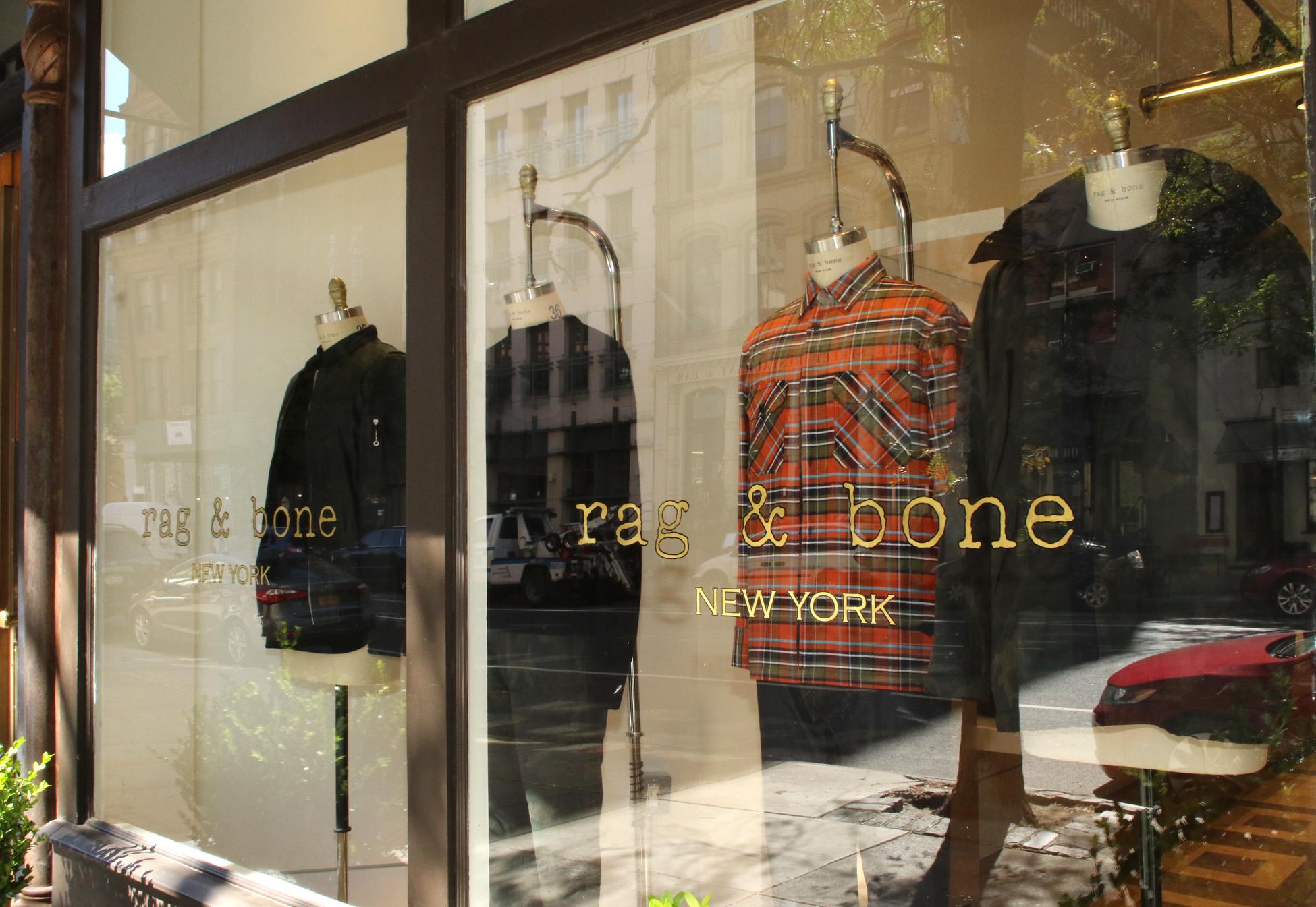 Inside Rag & Bone's Men's-only Store in TriBeCa.